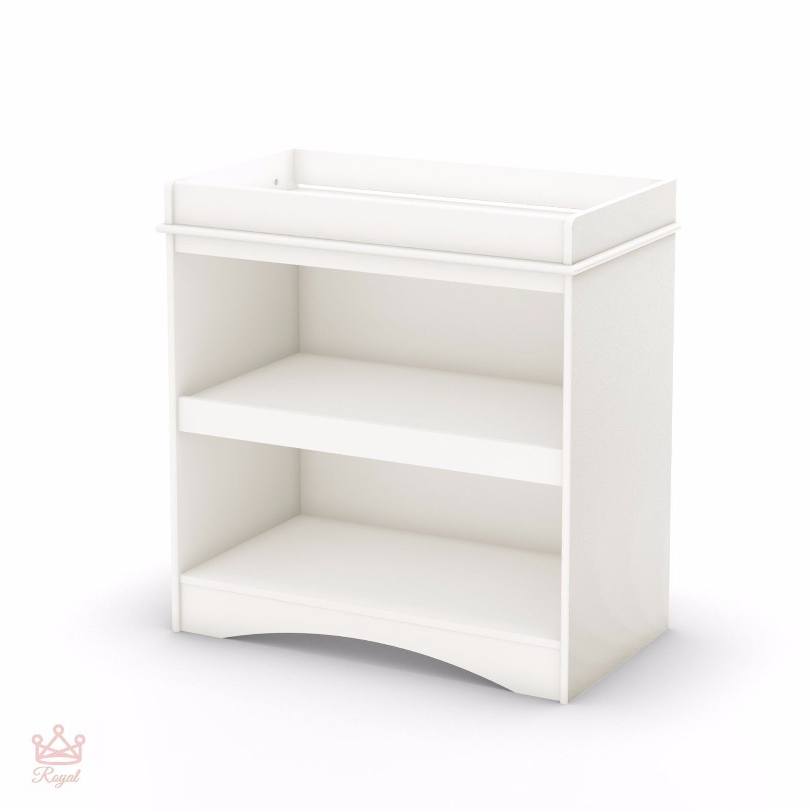 White Changing Table Dresser Kids Baby Nursery Furniture Infant ...