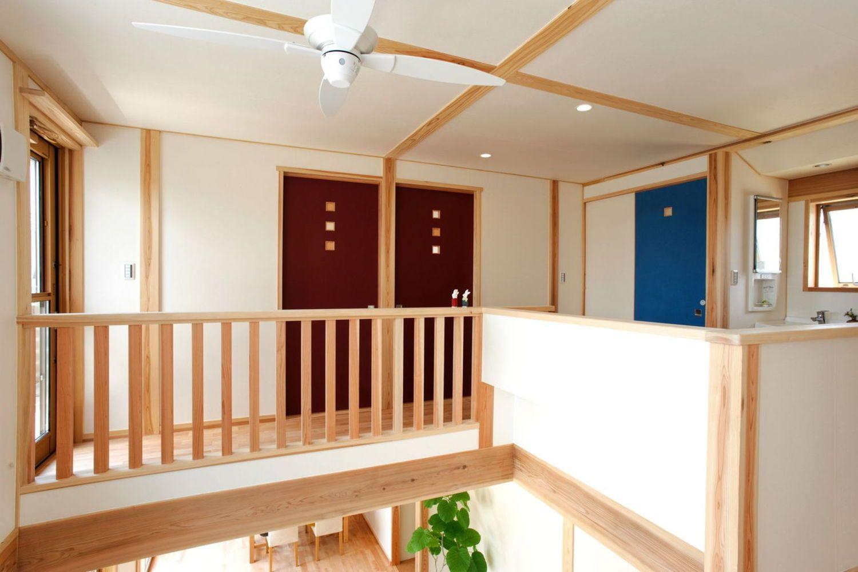 吹き抜け タタミリビング な家 自然素材と自由設計にこだわり富山県