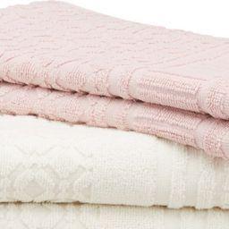 Handtuch aus 100% Baumwolle in Rosa.