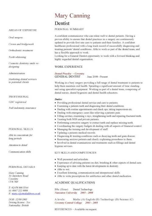 Medical Doctor Curriculum Vitae Template -    wwwresumecareer - operating room nurse resume sample