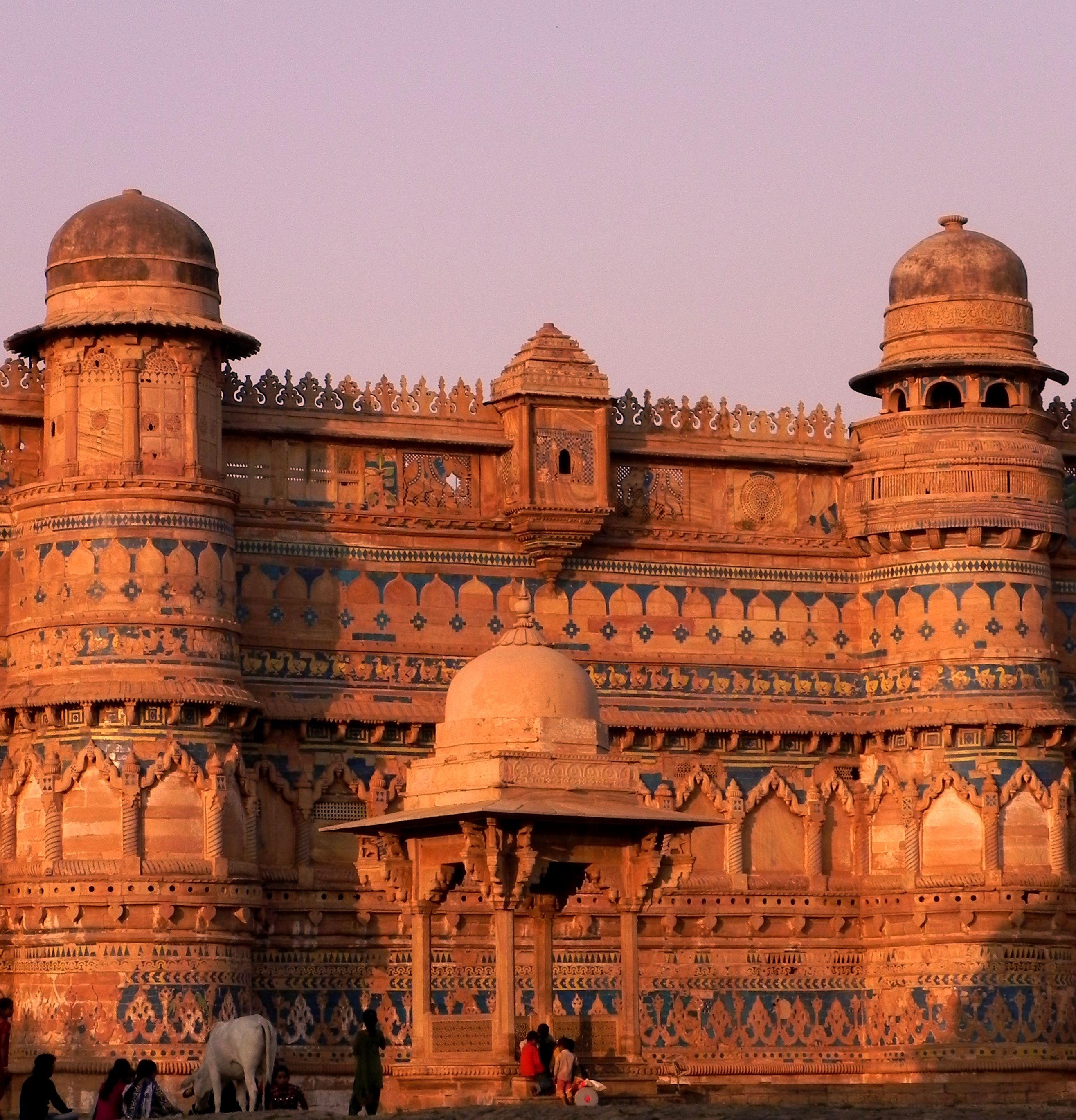 The Gorgeous Gwalior Fort: The 'Maan Mandir Palace' at Gwalior Fort, Gwalior, Madhya Pradesh, India
