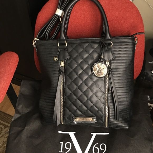 """Authentic VERSACE Handbag This is brand NEW VERSACE handbag with shoulder strap. 13""""h X 17""""w X 5"""" bottom. Faux Leather. It comes with dust bag. Versace Bags Totes"""