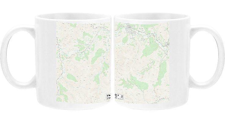 Mug Scottish Borders EH45 9 Map Ceramic dishwasher safe mug made in the UK