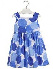 23e913b265 Mayoral Cobalt Blue Circles Dress