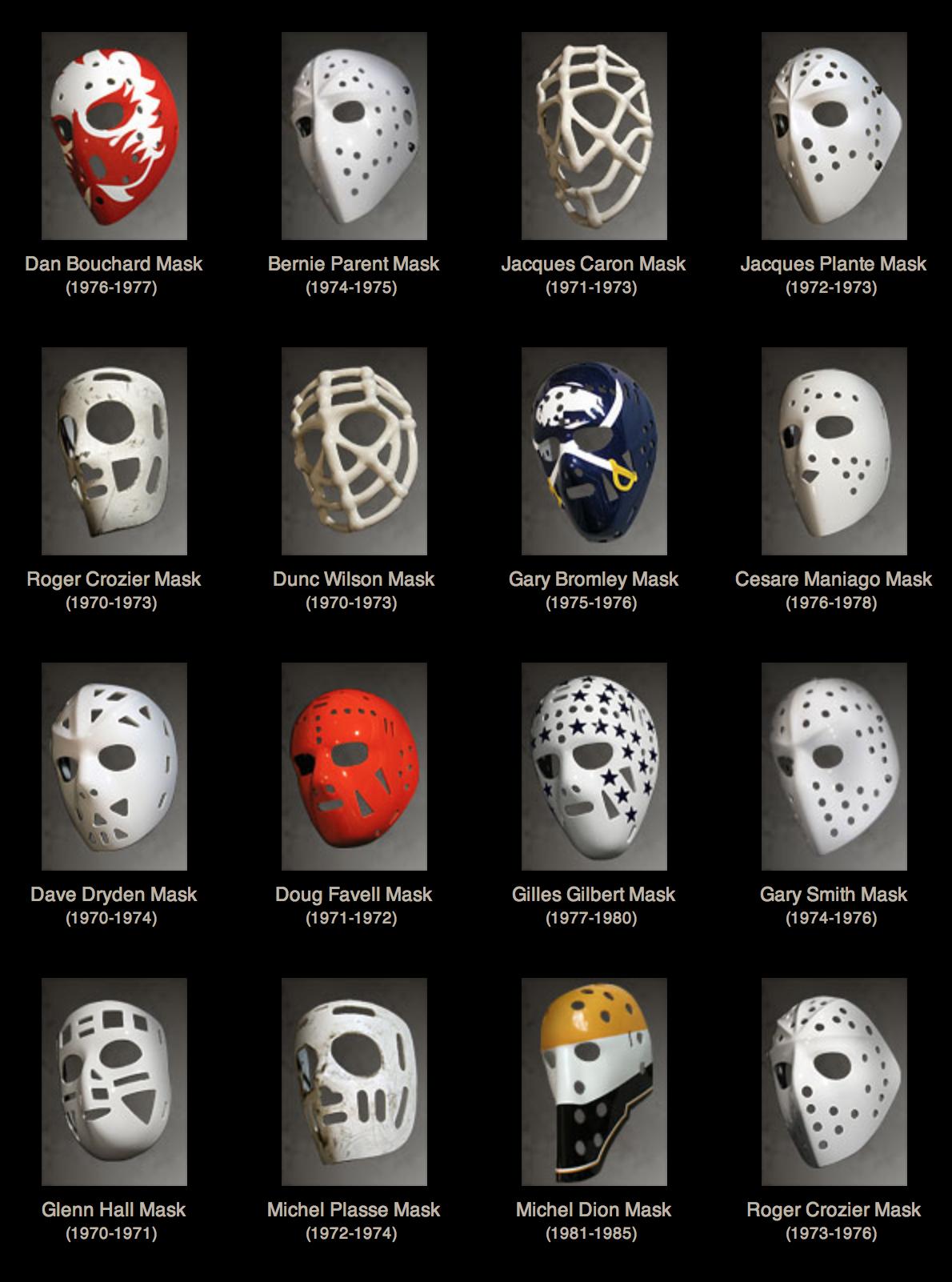 Mask Evolution Goalie Masks Hockey goalie, Hockey