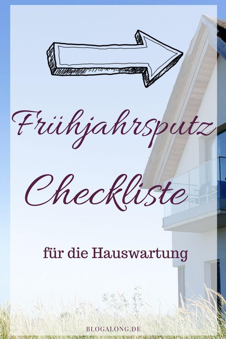 Frühjahrsputz   Checkliste Für Die Hauswartung   Blogalong.de