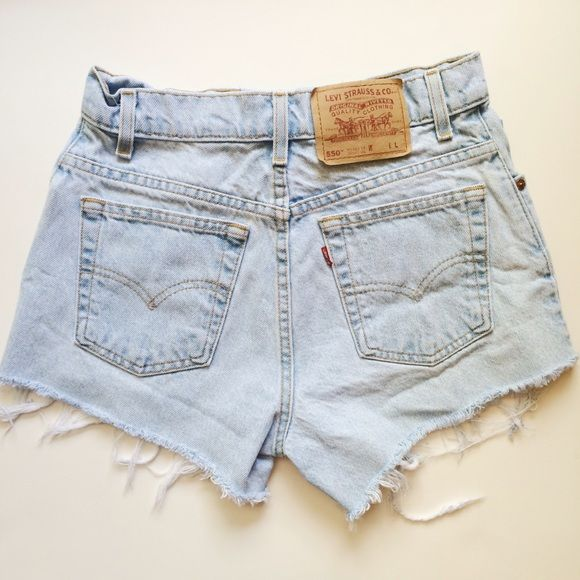 Levi's Vintage High Waisted Denim Shorts 27 Adorable vintage Levi's high waisted denim shorts in a light wash. Waist size is 27 inches. Levi's Shorts Jean Shorts
