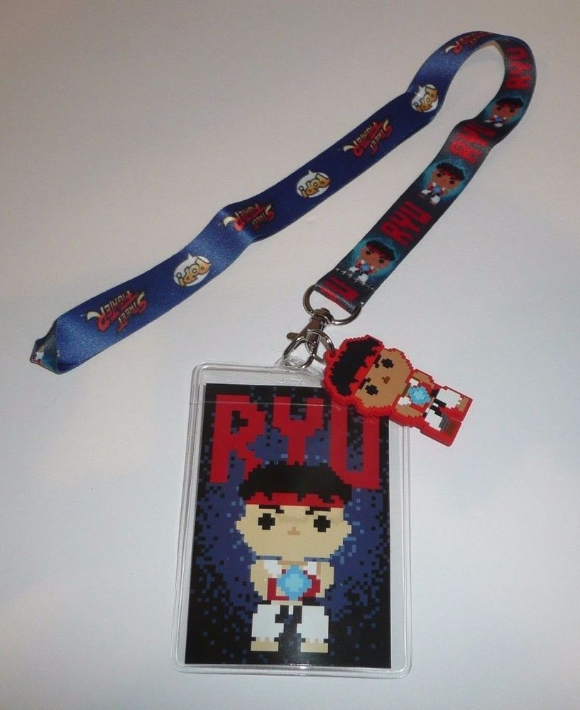Details About Street Fighter Ryu Character Neck Lanyard Id