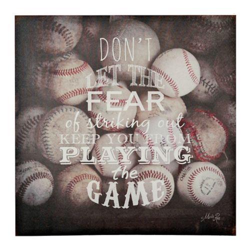Sports Quotes I Canvas Art Print Baseball Wall Art Sports Wall
