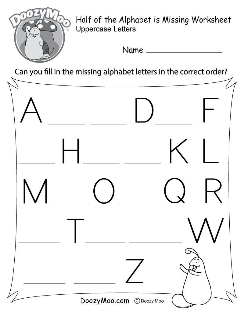 There Are 13 Letters That Have Disappeared From The Alphabet Kids Have To Decipher Whic Letter Worksheets Missing Letter Worksheets Alphabet Letter Worksheets [ 1035 x 800 Pixel ]