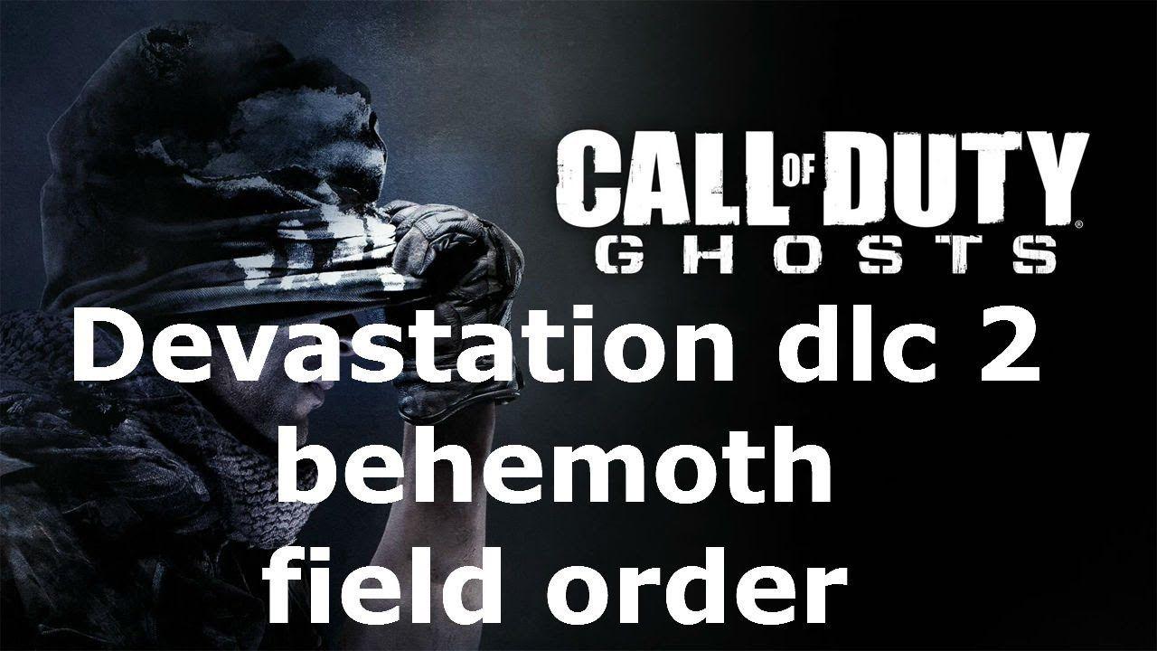 Cod Ghosts Devastation Dlc 2 Behemoth Field Order Ghost Devastation Call Of Duty Ghosts