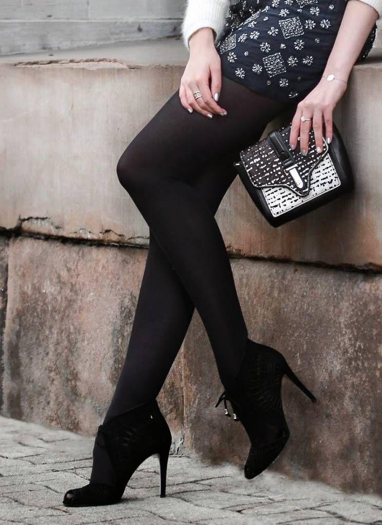 Soft Matt Black Opaques for Everyday Wear Charnos 60 Denier Opaque Tights