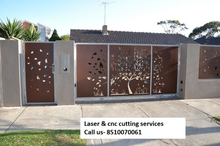 Wood Gate Elevation : We provide all kind of laser and cnc cutting work on these