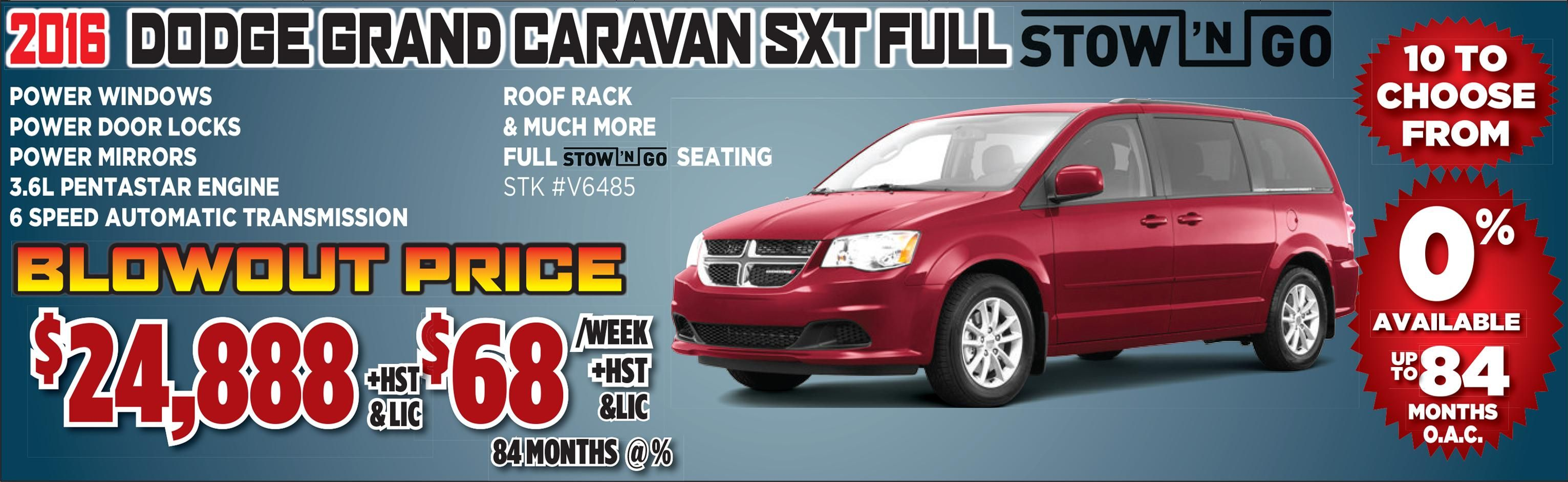2016 Dodge Grand Caravan Sxt With Red Exterior And Grey Interior