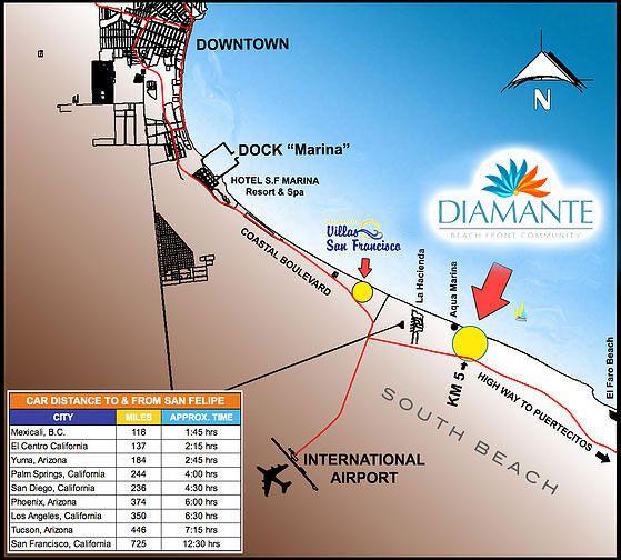 Map Of Diamante San Felipe Sanfelipe Owninginmexico Why Diamante