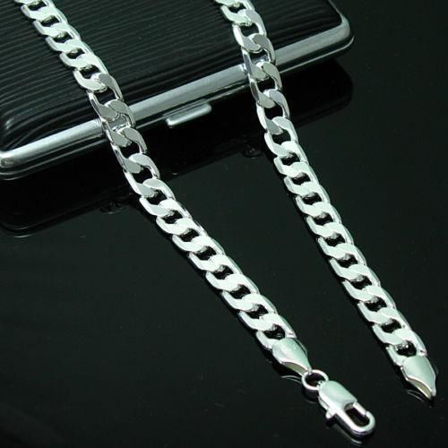 Fashion 4Mm 925 Sterling Silver Chain Men Necklace 16-30