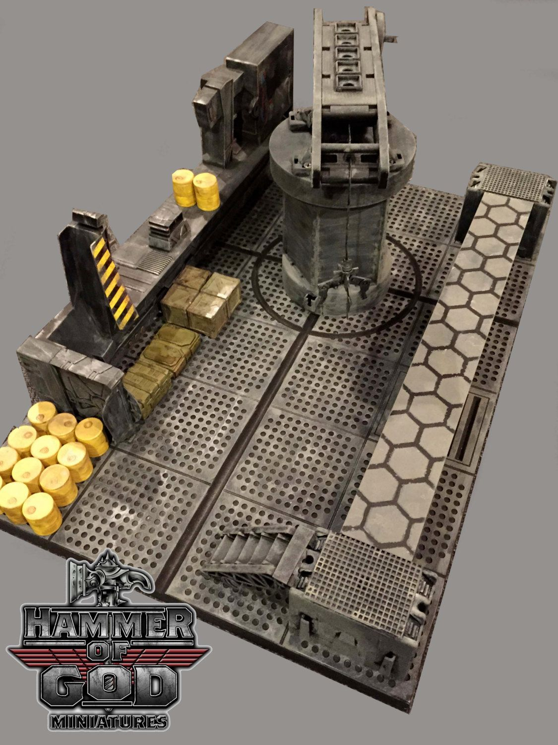 Sci Fi Factory Game Terrain by Hammerofgodminis on Etsy | Hammer Of