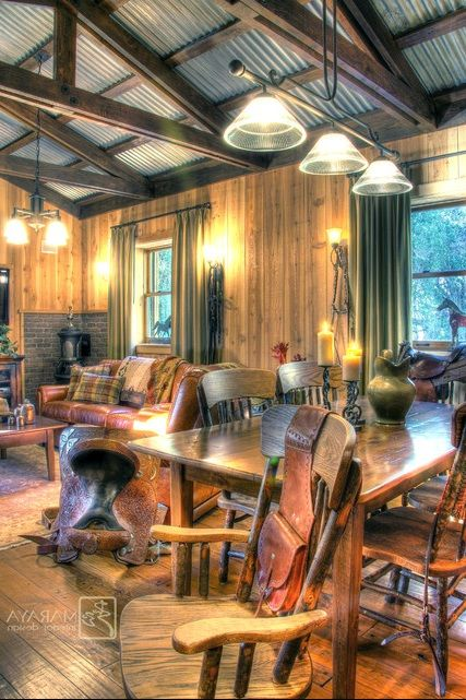 Pin By Stephanie Ringgold On When I Build My House Rustic House Tin Ceiling Metal Buildings