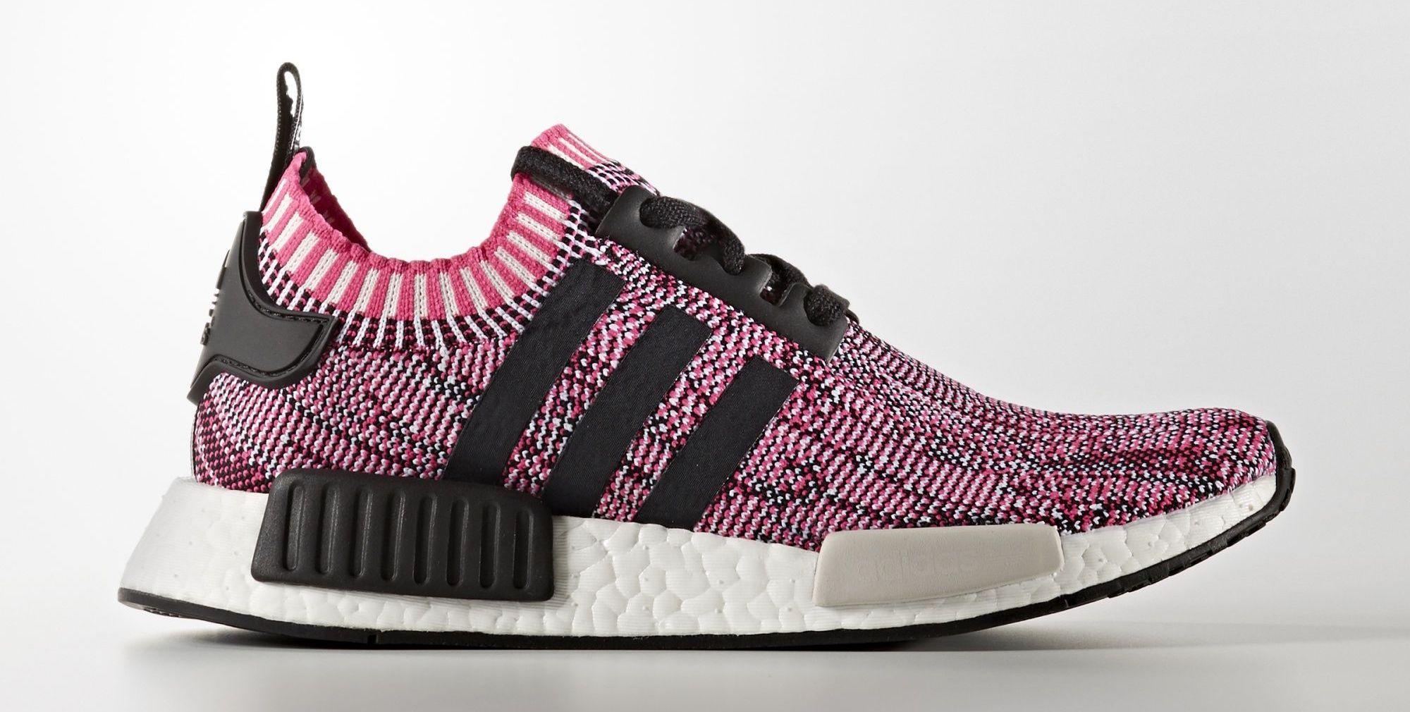 Adidas Damen NMD R1 Primeknit SchwarzEssential Pink BB2364