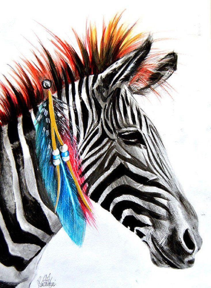 Zebra by manuela lai african feathers tattoo artwork canvas art zebra by manuela lai african feathers tattoo artwork canvas art print altavistaventures Images
