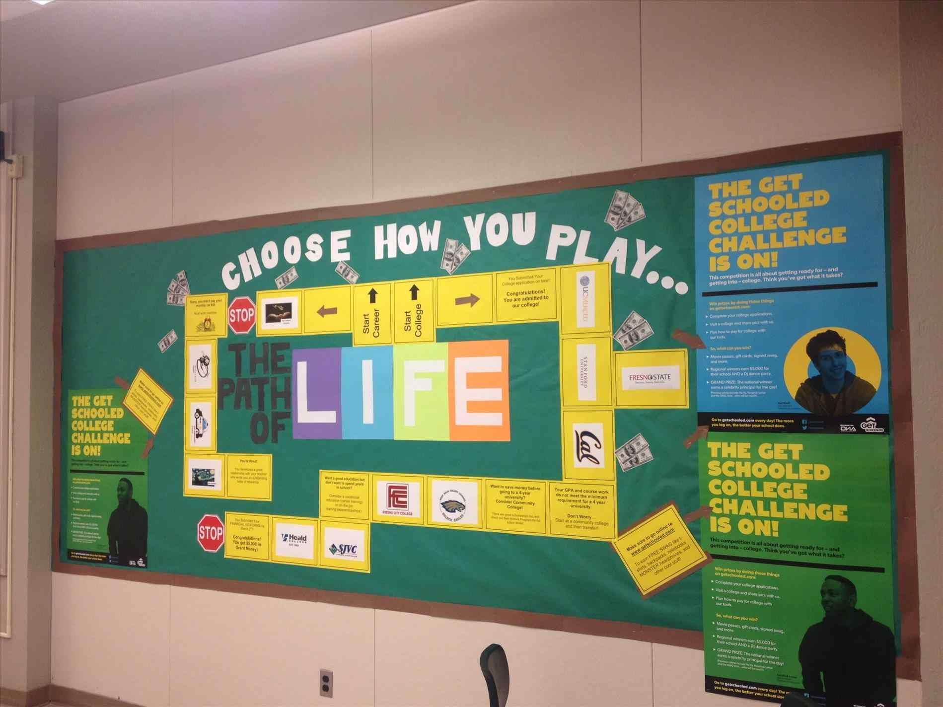 College Spring Bulletin Board Ideas Middle School And Career Work