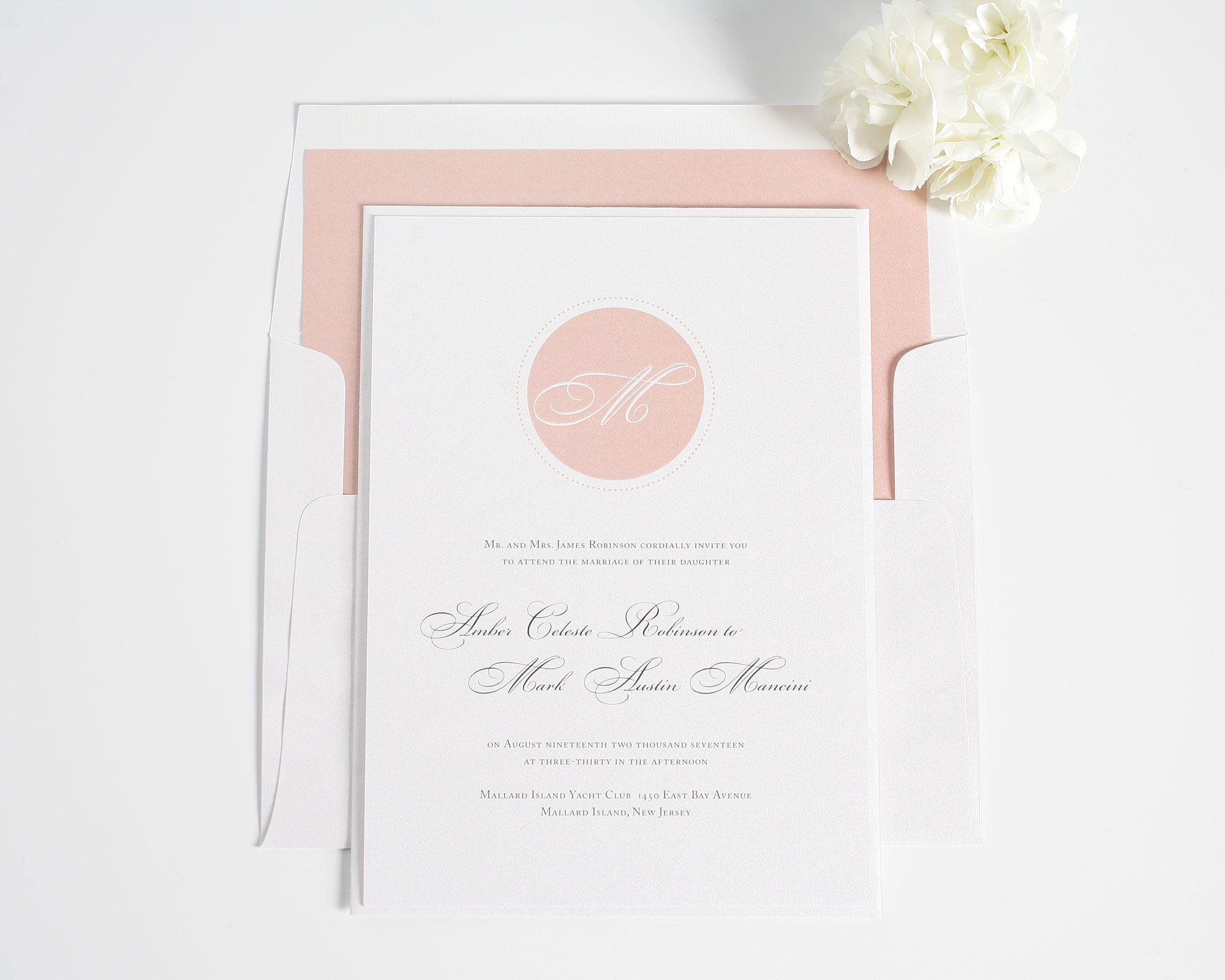 Circle Monogram Wedding Invitations | Elegant wedding invitations ...