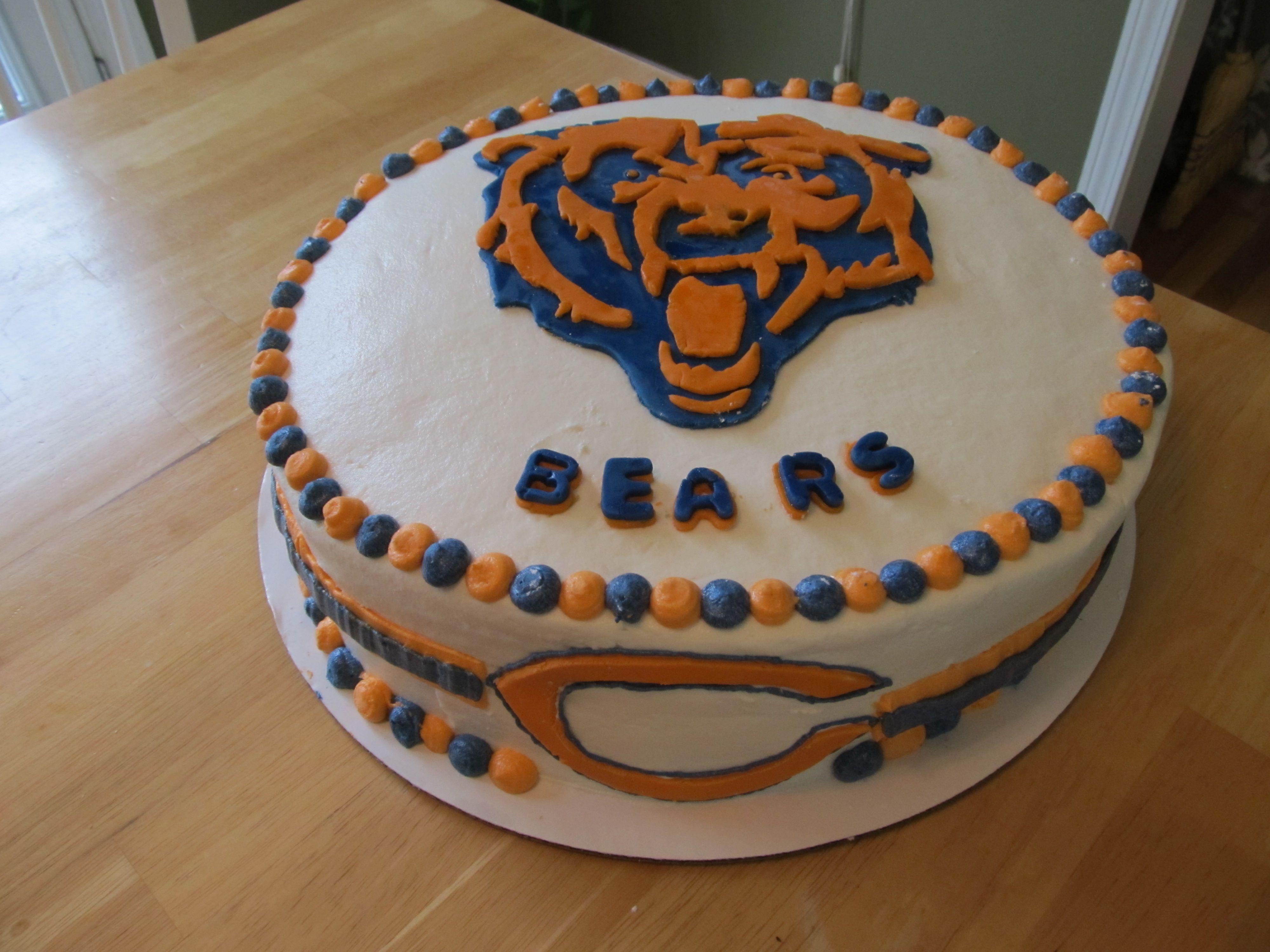 Tremendous Chicago Bears Birthday Cake Cake Designs Birthday Cake Bithday Funny Birthday Cards Online Fluifree Goldxyz