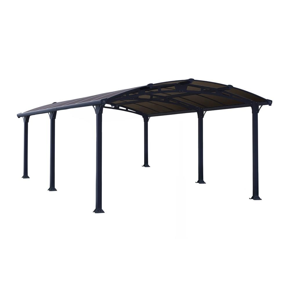 Palram Arcadia 5 000 12 Ft X 16 Ft Carport Car Canopy And Shelter 701592 The Home Depot In 2020 Car Canopy Polycarbonate Roof Panels Carport