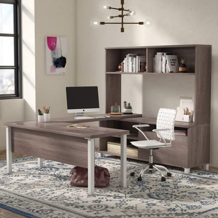 wrought studio pham 4 piece u shape desk office suite