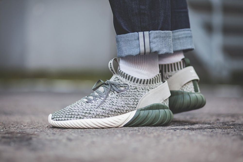 ADIDAS TUBULAR DOOM SOCK PK - CQ0945 - GREEN 96e1b02bf2