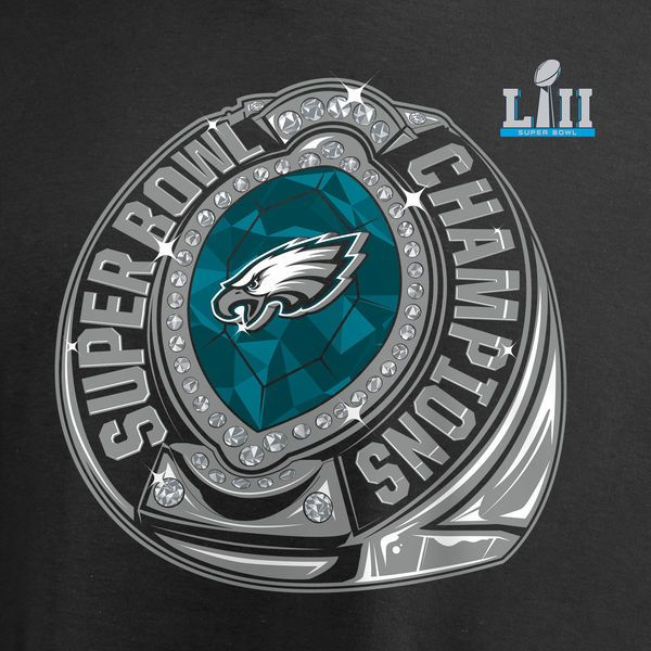 4b8d5cde1 Men s Philadelphia Eagles NFL Pro Line by Fanatics Branded Black Super Bowl  LII Champions Bounce Long Sleeve T-Shirt - NFLShop.com