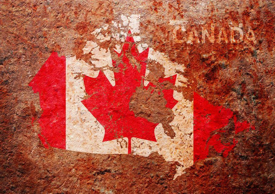 Canada flag map digital art canada flag map fine art for Discount wallpaper canada