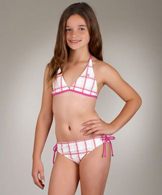 38401d113f62b Hurley Girls One Only Plaid Halter and Tunnel Bottom Set   This Is ...