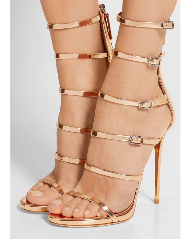 GIUSEPPE ZANOTTI Mirrored-leather sandals | Buy ➜ http://shoespost.com/giuseppe-zanotti-mirrored-leather-sandals/