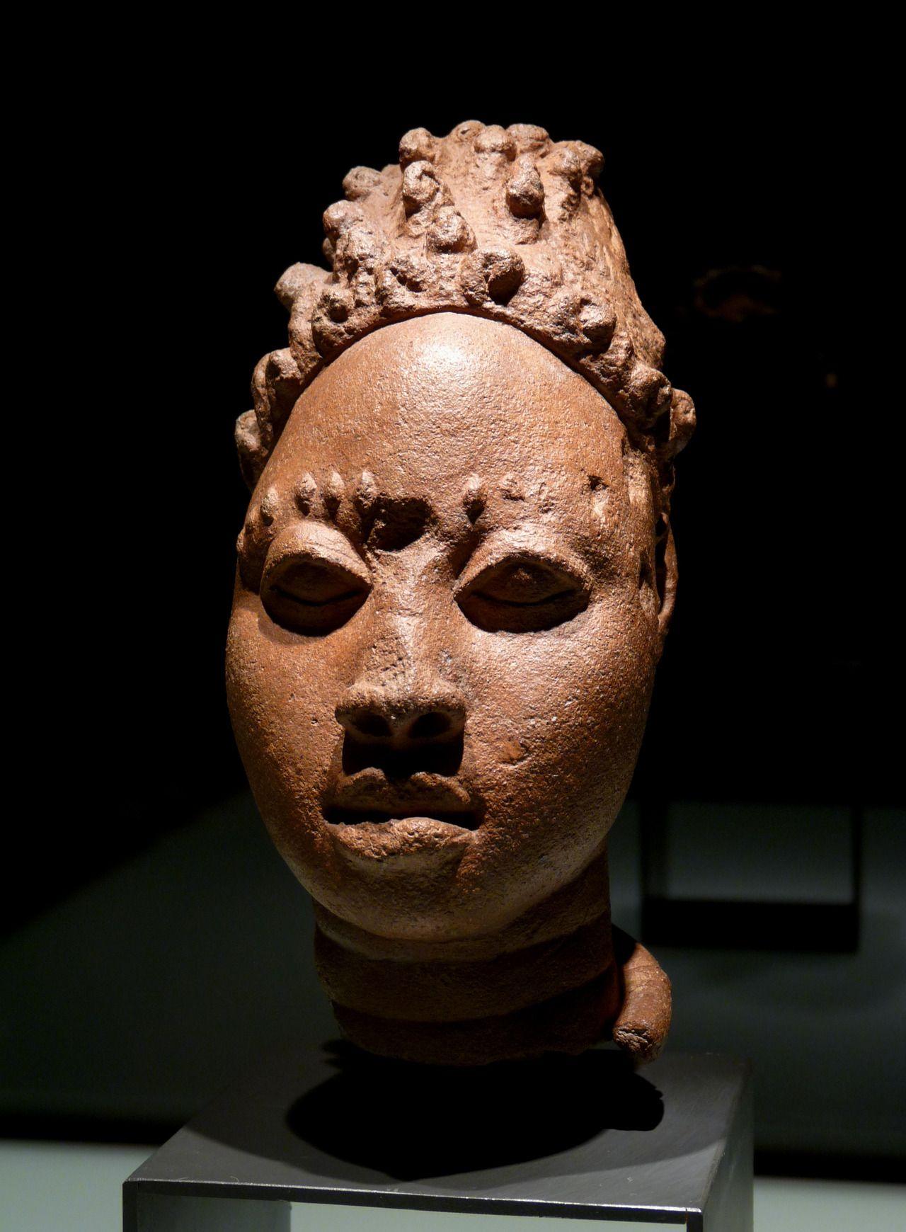 Ancient terracotta head, Ife (an ancient Yoruba city in