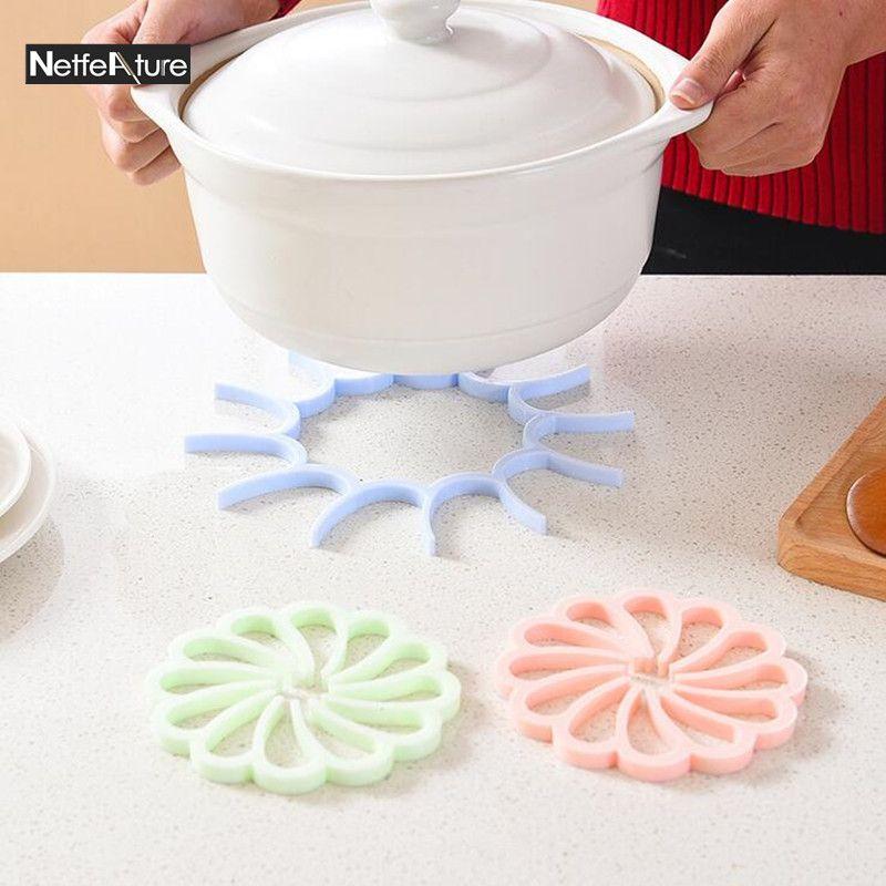 Click To Buy U003cu003c 1PCS Creative Thicker Silicone Hot Pad Kitchen Pot Pads. U003eu003e