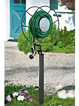Swivel Hose Reel With Free Standing Base   Garden Hose Stake