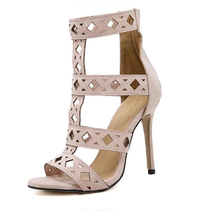 42e02beb197 New Arrival Summer T-stage Gladiator High Heels Sandals Women Stiletto Open  Toe Cut Out