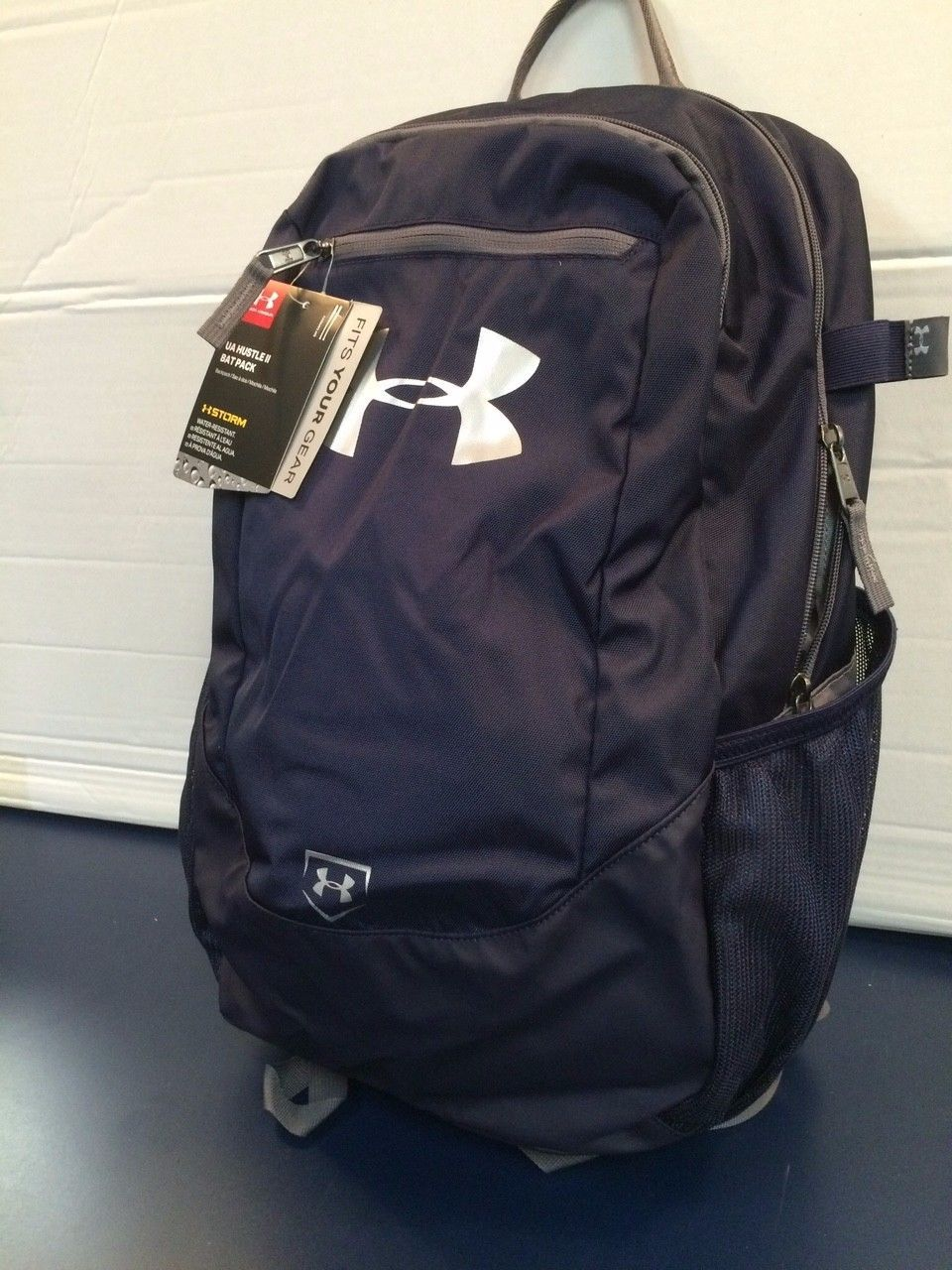 Equipment Bags 50807: Under Armour Navy Hustle 12 Backpack Bat Bag -> BUY IT NOW ONLY: $35 on eBay!