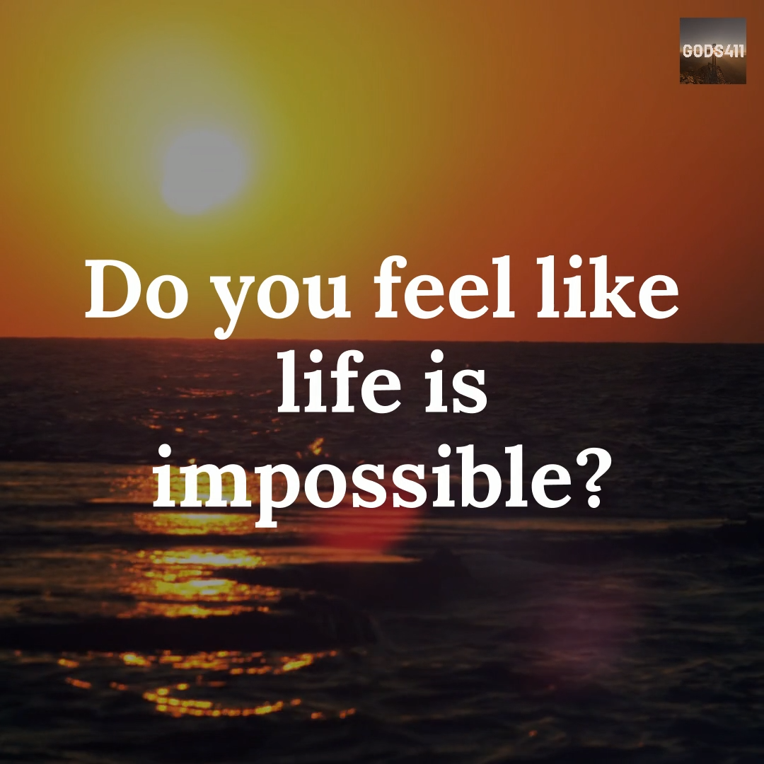 Do you feel that life is impossible? Watch this video and see what God would say. Watch more great videos on our YouTube channel.