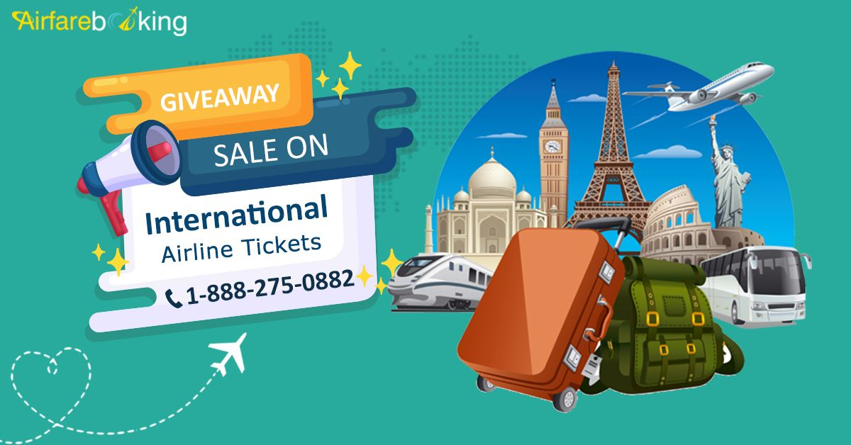 Booking of international flights at the lowest airfares. #Airfarebooking offers cheap international tickets. Travel to your favourite destinations today!   For more information call us at- 1-888-275-0882 (Toll-Free).  #InternationalFlightDeals #CheapFlightBooking #OnlineFlightBooking #Destinations #vacations #TravelLovers #TravelLife #Travel #Tourism #Cheaptravel #bookflightstoday