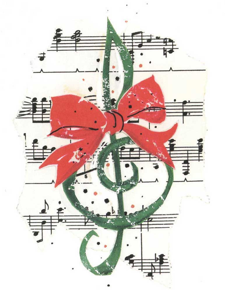 Buy Clef With Bow Christmas Card | Music Stationery | Greeting Cards ...
