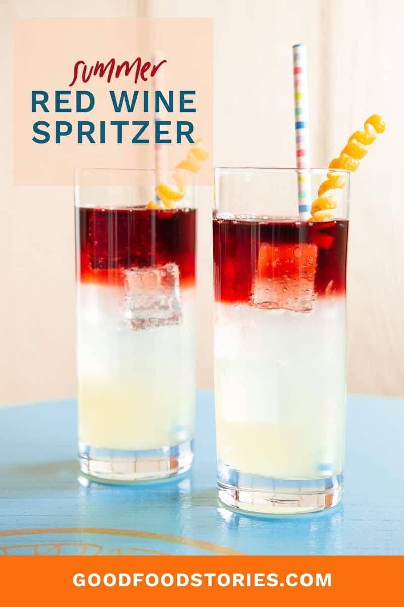 Red Wine Spritzer New York Sour Recipe Good Food Stories Recipe In 2020 Wine Spritzer Red Wine Spritzer Spritzer