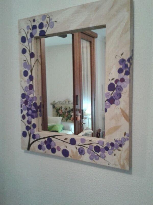 Resultado de imagen para espejos decorados a mano for Espejos con marcos decorados