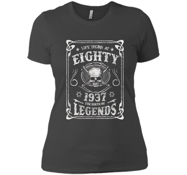 Life begins at 80 - 1937 - the birth of legends (v 2017) cool shirt
