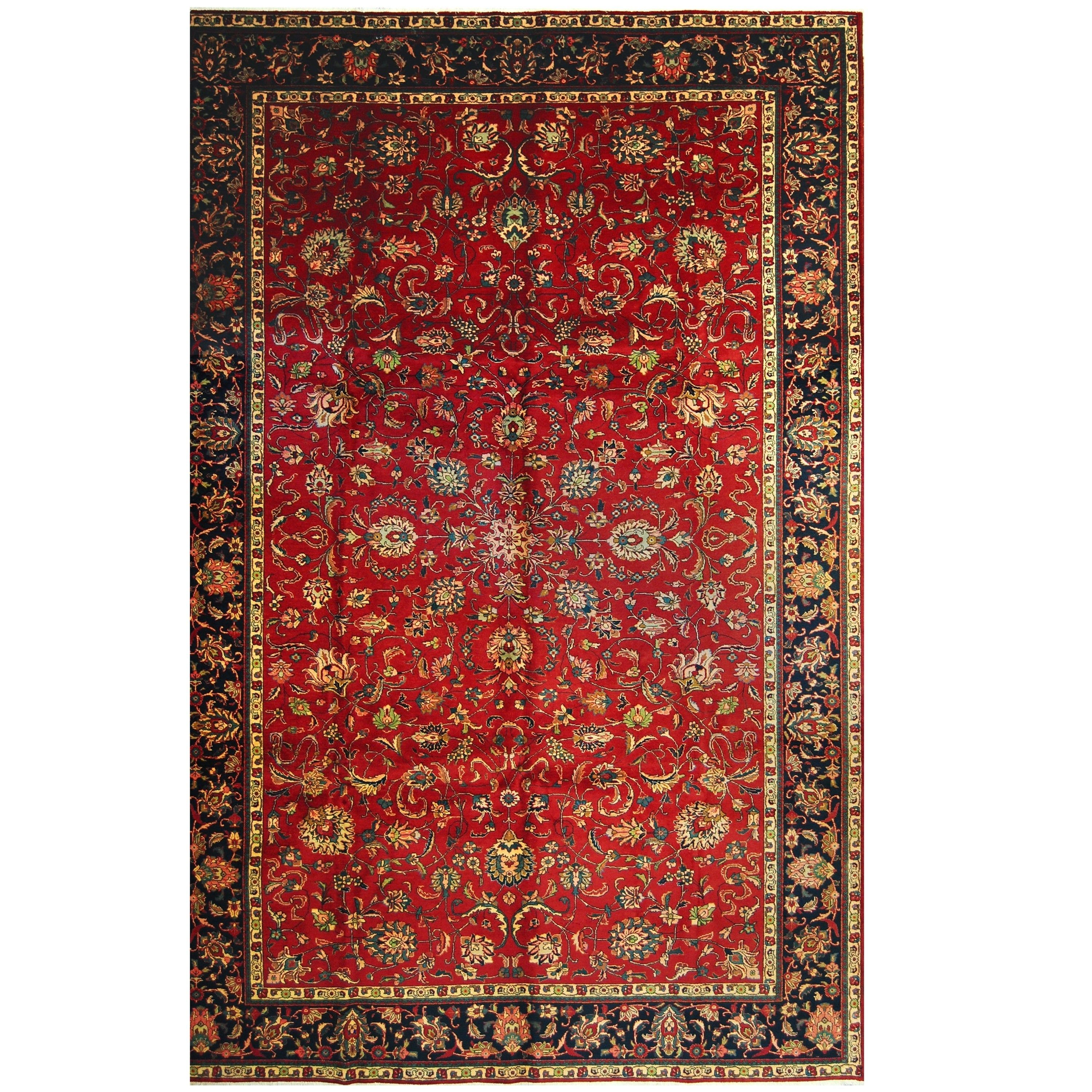 Handmade Herat Oriental Persian Hand Knotted Tabriz Wool Rug 10 X 15 4 10 X 15 4 Red Unique Rugs Colorful Rugs