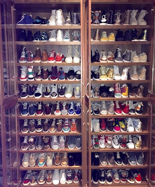 Floyd Mayweathers Shoe Closet