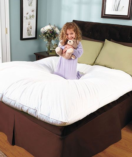 AllNatural Featherbed or Pillow Fluffy bedding, Down