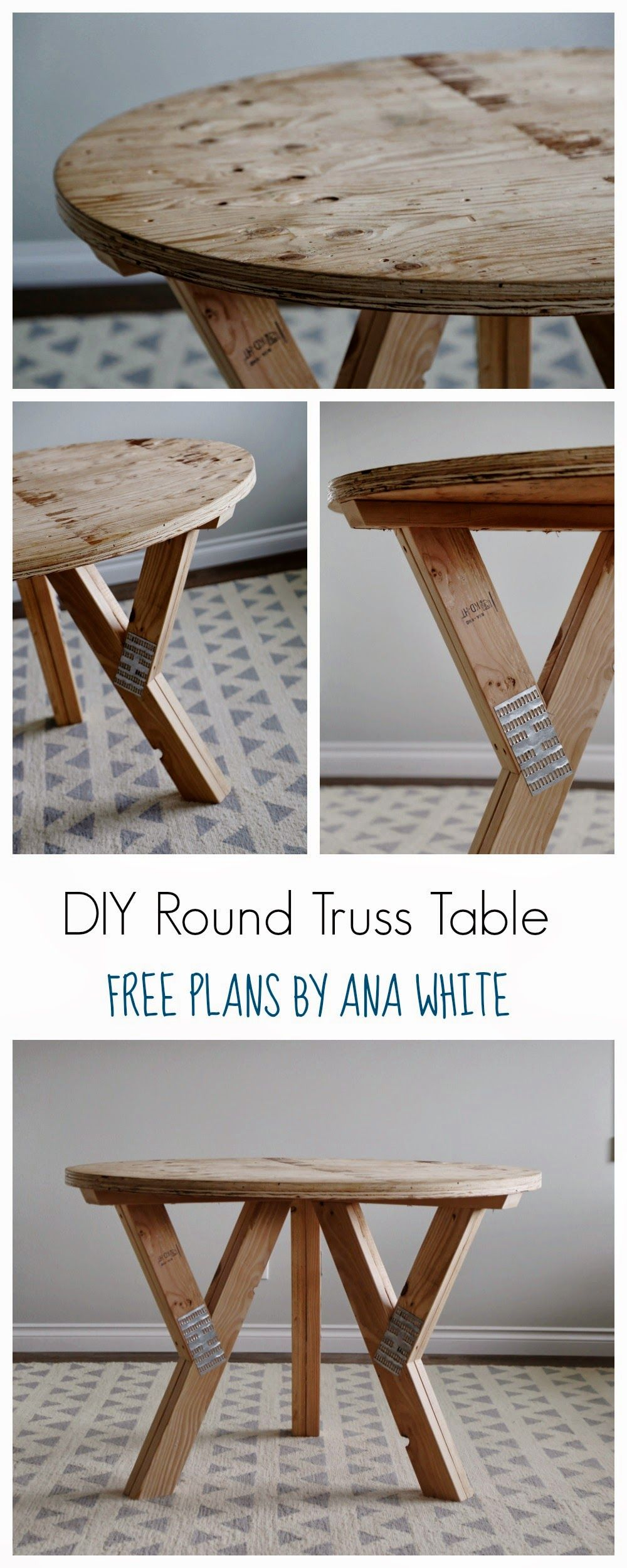 Ana White Build a Y Truss Round Table