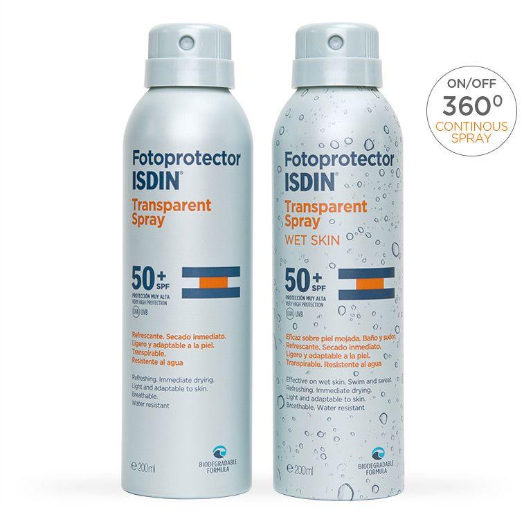 Fotoprotector Isdin Transparent Spray Proteccion Solar Cuidado